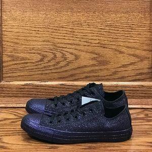 Converse CTAS Ox Low Top Purple Black Glitter Shoe